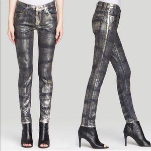 • Current/Elliott • Ankle Skinny Jeans Fools Gold